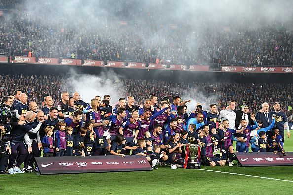 Barcelona are the reigning LaLiga champions