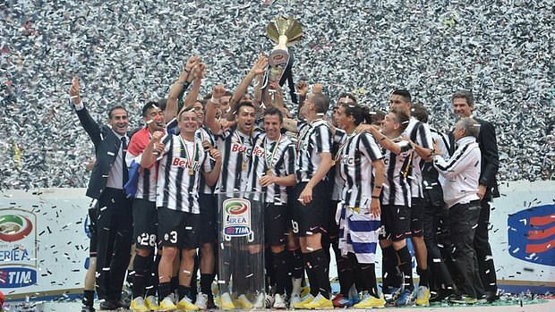 Juventus celebrate their 28th Serie A title in 2011-12