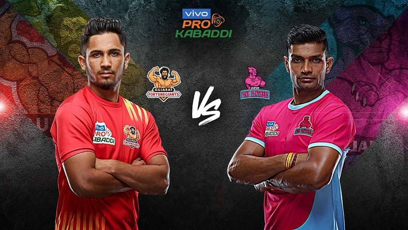 Jaipur Pink Panthers have managed to beat Gujarat Fortune Giants only once. Can they improve their record tonight?