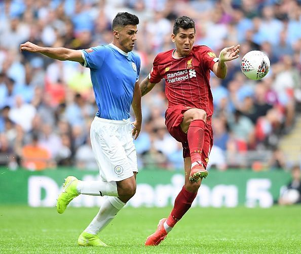 New signing Rodri (L) started for Manchester City