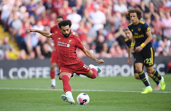 Mohamed Salah will look to build on his brace against Arsenal last weekend.