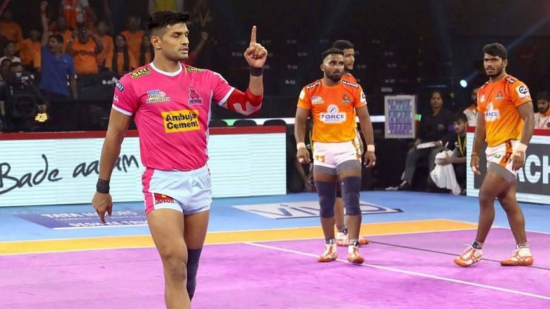 Can Jaipur make it 6 losses in a row for Gujarat? (Image Courtesy: Pro Kabaddi)
