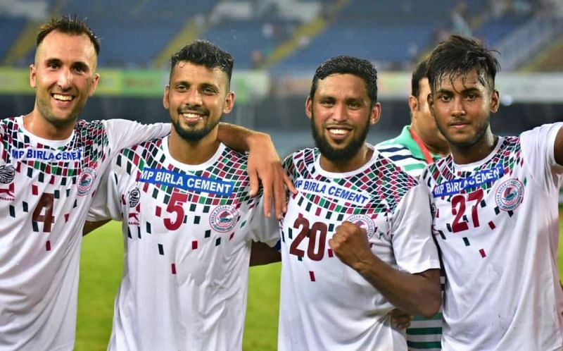 Sheikh Sahil (extreme right) has been the find of the season for Mohun Bagan this season