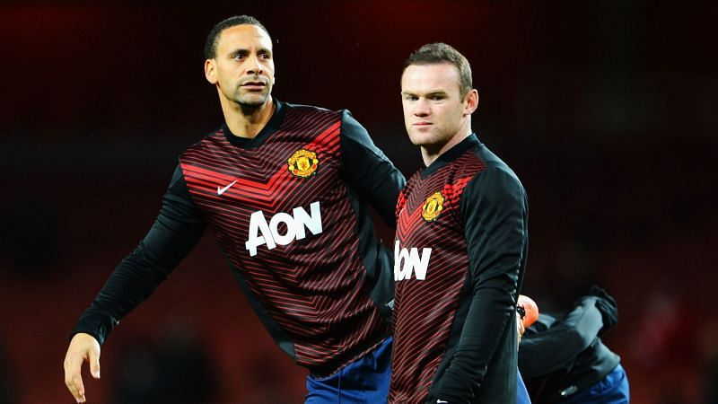 Former Manchester United team-mates Rio Ferdinand and Wayne Rooney