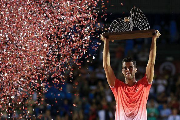 Djere wins his maiden title at Rio de Janeiro.