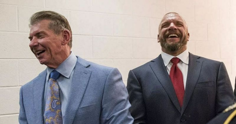 Vince McMahon and Triple H.