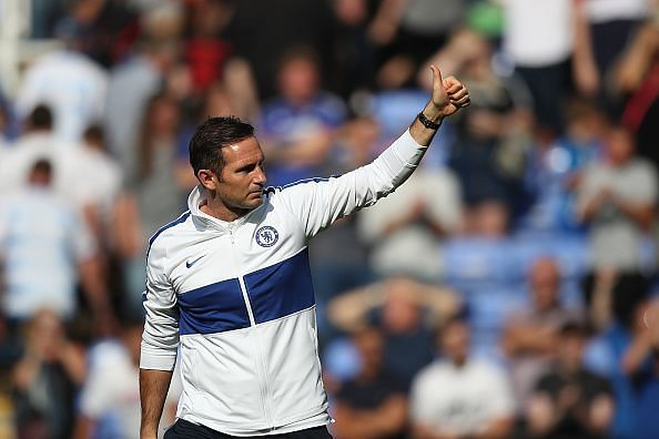 The man on a mission- Chelsea legend and current coach Frank Lampard.