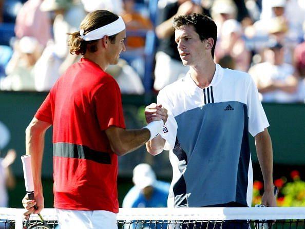 Federer beats Henman at 2004 Indian Wells