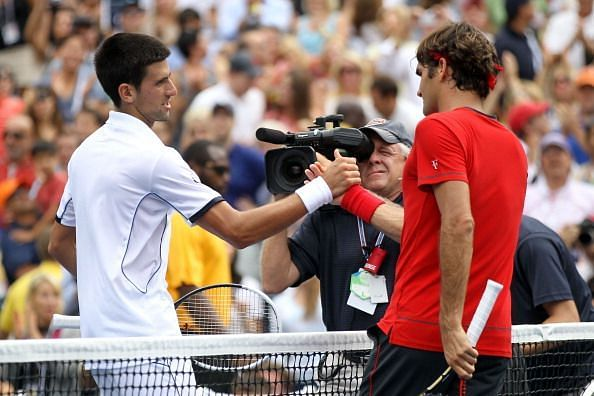 In his 8th straight US Open semifinal in 2011, Federer fell to Djokovic