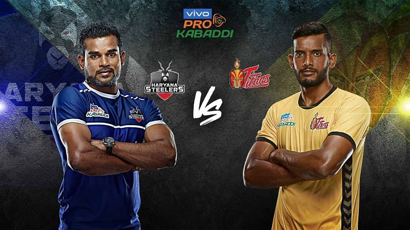 The formidable defence of Haryana Steelers takes on Siddharth