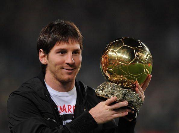 Messi won the first of four consecutive Ballon d