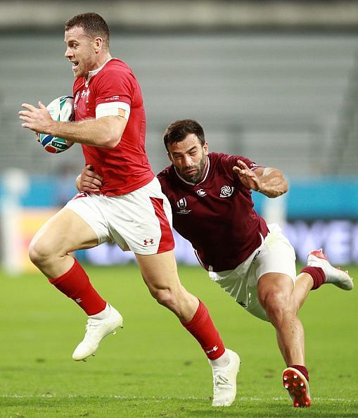 Gareth Davies for Wales v Georgia - Rugby World Cup 2019: Group D