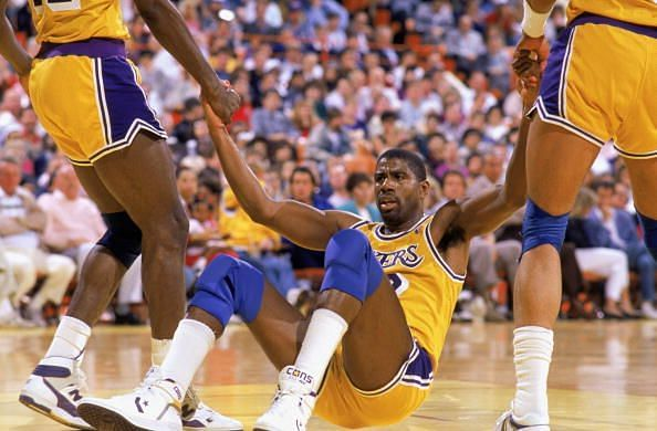 Former Los Angeles Lakers point guard Magic Johnson