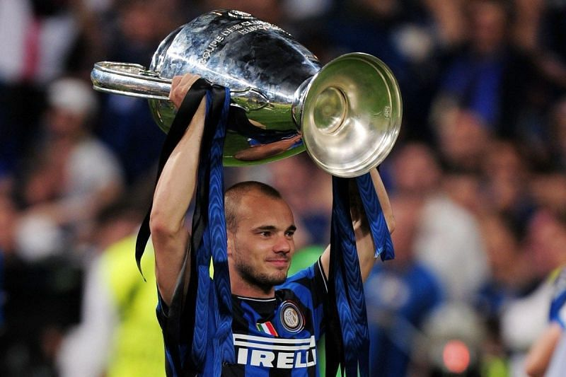 Sneijder helped inspire Inter Milan to their Champions League trophy in 45 years