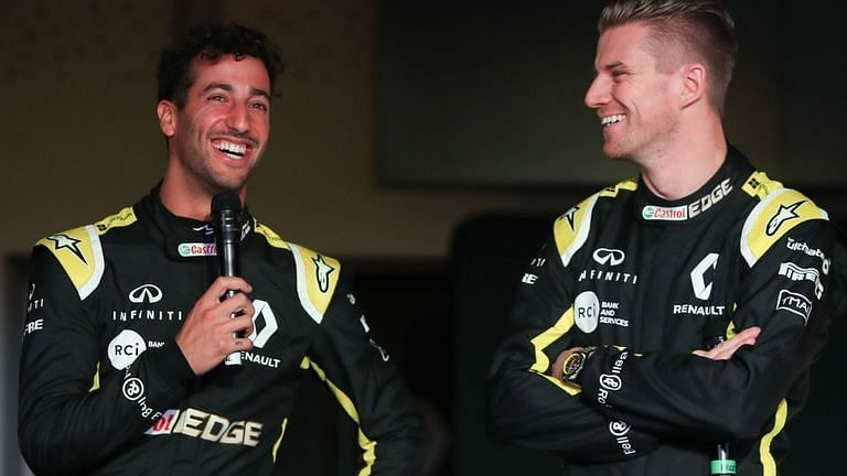 Hulkenberg is just a point behind Ricciardo in the standings