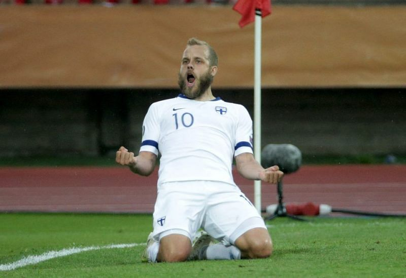 Teemu Pukki converted his penalty to hand Finland a win against Greece.