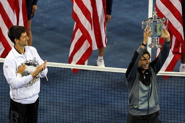 Nadal lifts his third Grand Slam title of the year at the 2010 US Open