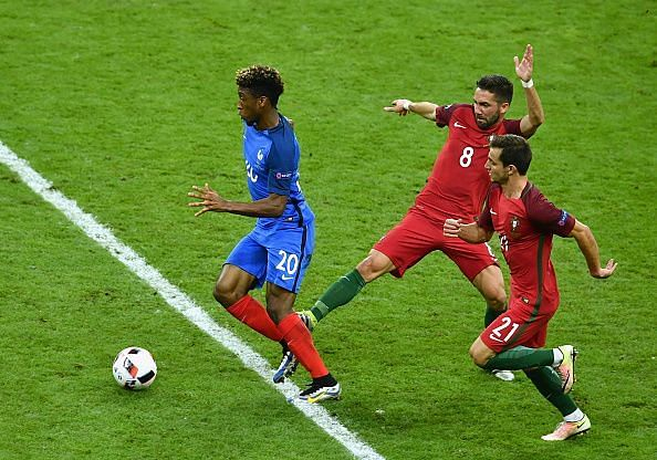 Kingsley Coman scored a brace for France in their 4-1 win