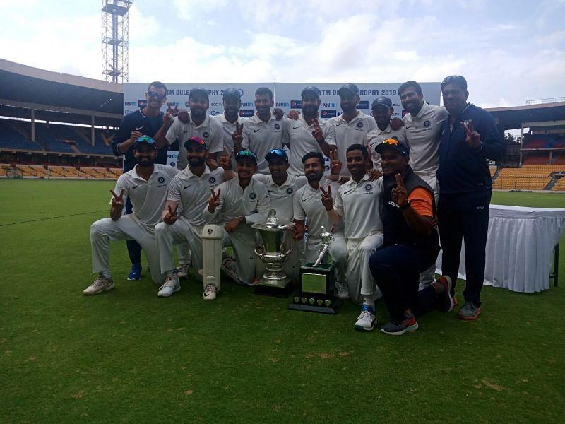 इंडिया रेड ने इंडिया ग्रीन को हराकर जीता दिलीप ट्रॉफी 2019 का ख़िताब (फोटो: Cricinfo)