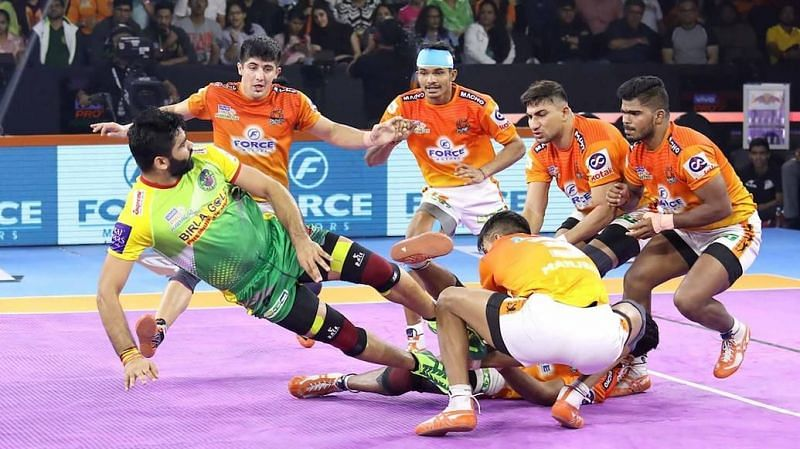 Pardeep Narwal scored 18 raid points tonight