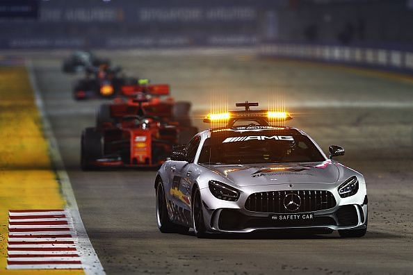 Many safety car visits in Sunday night
