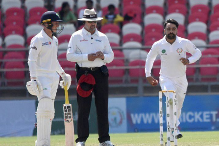 Rashid Khan scalped 11 wickets in the Test match against Bangladesh