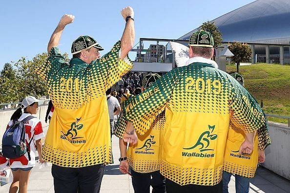 Australia fans have arrived at the Rugby World Cup 2019