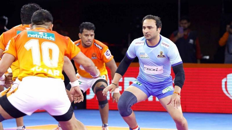 Manjeet Chhillar plays for the Tamil Thalaivas in PKL
