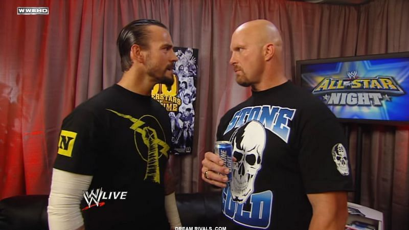 साल 2010 में सीएम पंक और स्टीव ऑस्टिन के बीच मैच होते होते रह गया