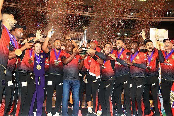 2018 की विजेता टीम त्रिनबागो नाइट राइडर्स