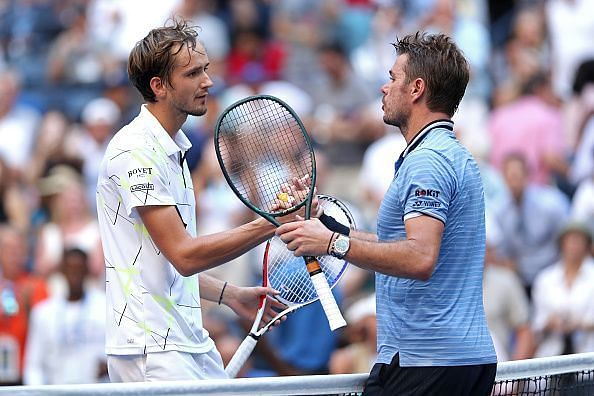 Medvedev beats 2016 winner Wawrinka in his first Grand Slam quarterfinal