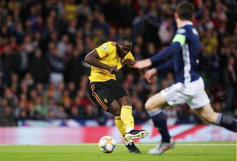 Romelu Lukaku broke the deadlock for Belgium with a calm finish.