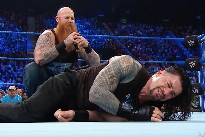 Image result for roman reigns vs erick rowan