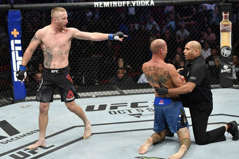 Justin Gaethje finished Donald Cerrone in the first round of their main event