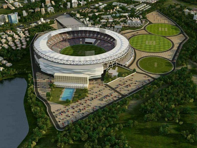 Graphical design of the brand-new Sardar Patel stadium, Motera