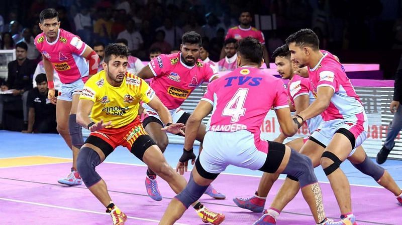 Jaipur Pink Panthers and Gujarat Fortune Giants tied for the first time in PKL