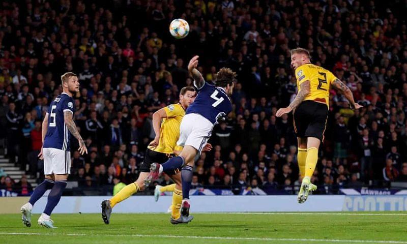 Toby Alderweireld scored Belgium