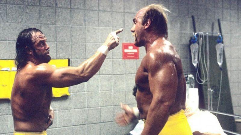 Moments before Randy Savage turned on Hulk Hogan.