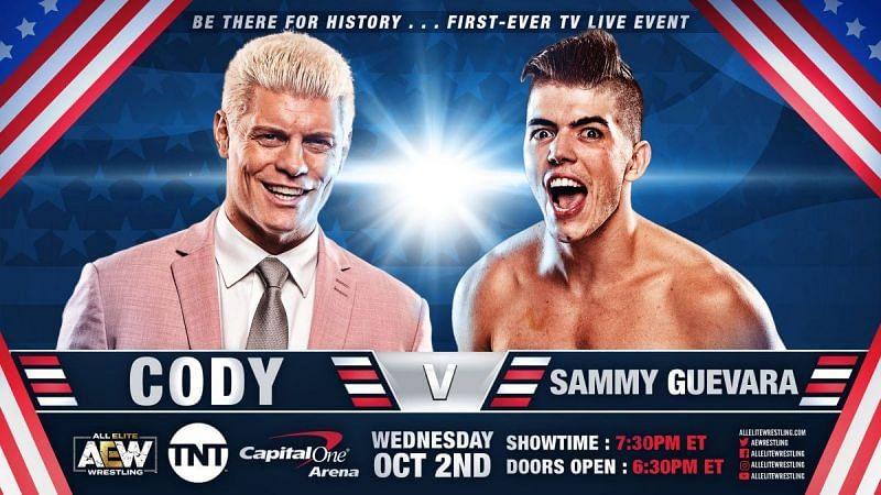 Cody faces Sammy Guevara