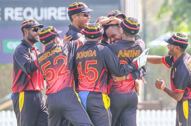 पापुआ न्यू गिनी के नॉर्मन वनुआ ने हैट्रिक ली (Photo: Cricinfo)