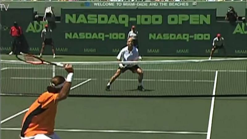Federer lost to Agassi in his first Masters 1000 final in 2002 Miami