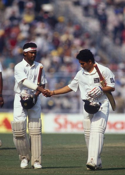 Vinod Kambli with best friend Sachin Tendulkar