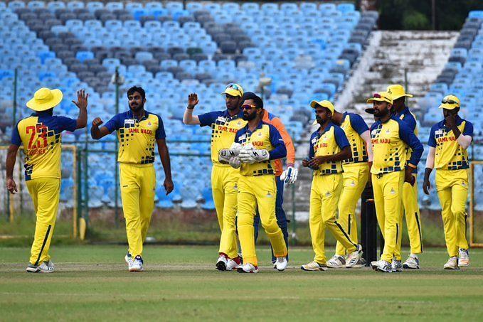 तमिलनाडु की टीम विजय हजारे ट्रॉफी में उपविजेता रही थी