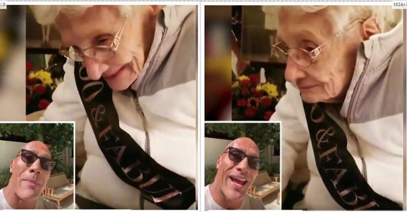 वीडियो में अपने सुपरफैन को जन्मदिन की बधाई देते द रॉक