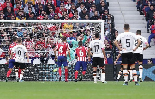 Atletico and Valencia played out a 1-1 stalemate in LaLiga