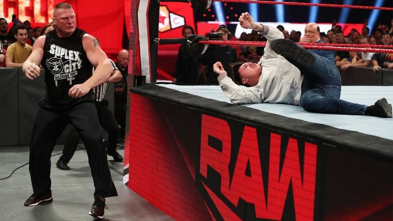 Brock Lesnar was on a rampage on RAW.