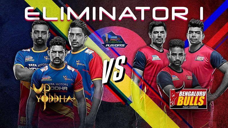 UP Yoddha vs. Bengaluru Bulls (Eliminator 1, Pro Kabaddi 2019)