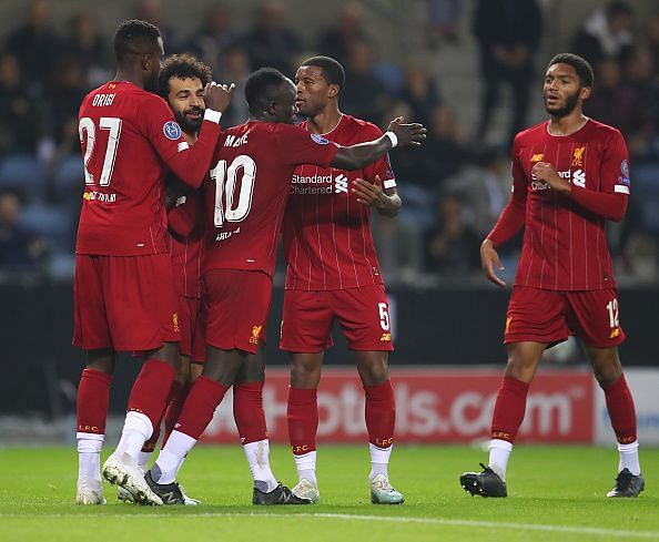 Liverpool cruised to a 4-1 victory in Belgium