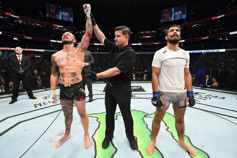 Swanson got the better of Kron in this bloody co-main event