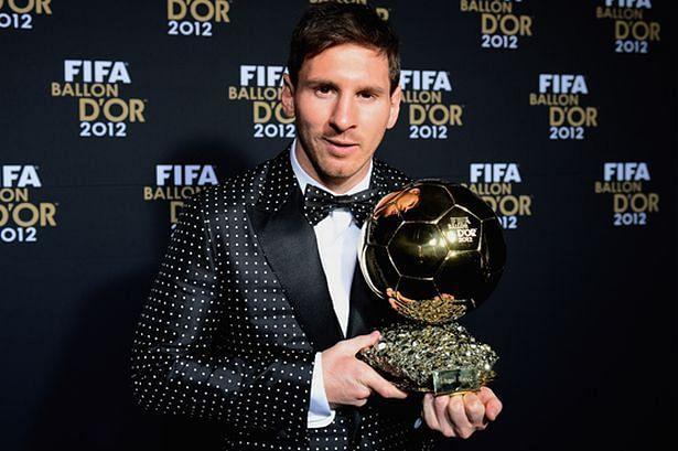 Lionel Messi won his 4th consecutive Ballon d